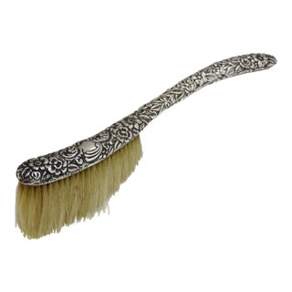 Antique Sterling Silver Table Crumb Brush For Sale