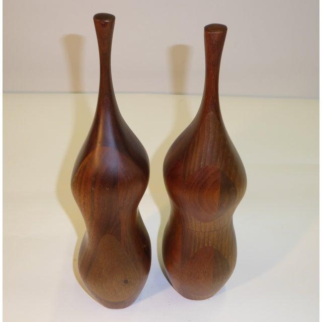 Wood Pair of Organic Walnut Salt & Pepper by Daniel Loomis Valenza Design For Sale - Image 7 of 10