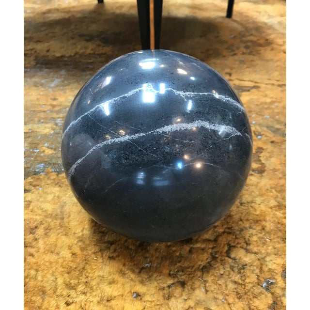 Decorative Dark Grey Marble Sphere, Italy