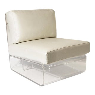 Clear Acrylic Modern Erica Chair For Sale