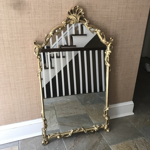 Chinoiserie Gold Carved Wall Mirror For Sale - Image 4 of 13