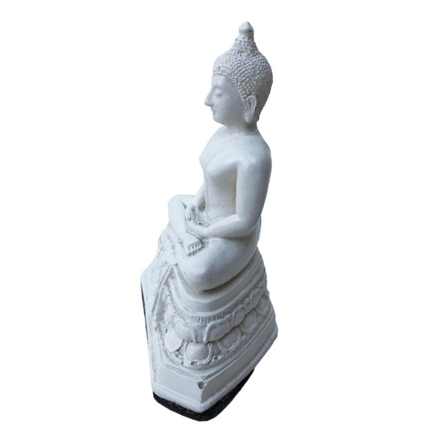 Asian Serene Buddha Figurine For Sale - Image 3 of 7