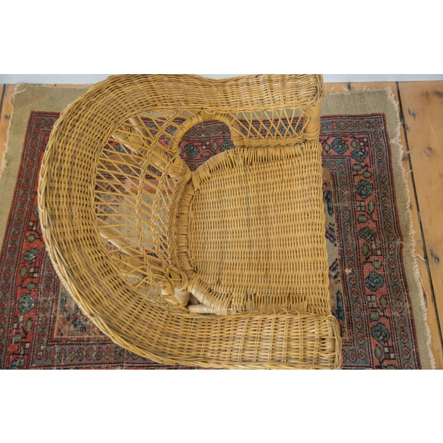 Vintage Boho Wicker Child's Chair - Image 4 of 6