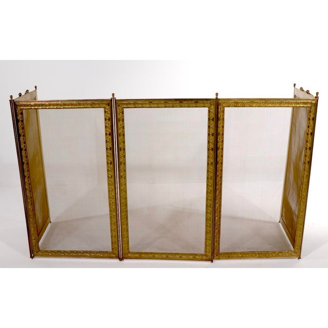 French Folding Fireplace Screen Spark Gard For Sale - Image 13 of 13