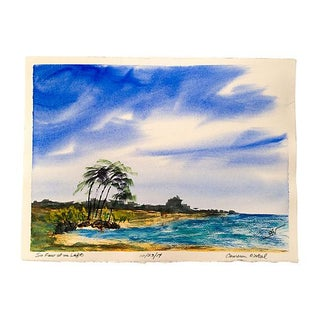 Beach Watercolor Painting by Cameron O'Neal For Sale