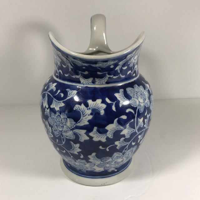 Chinoiserie Blue and White Pitcher - Image 3 of 11