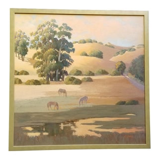 Plein Air Landscape Painting by Carolyn Shaw For Sale
