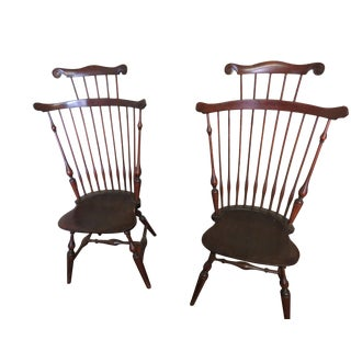 1920s Vintage Wallace Nutting Windsor Chairs - A Pair For Sale