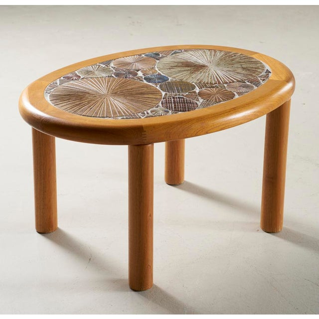 Haslev Tue Poulsen Danish Tile Top Side Table For Sale - Image 4 of 4