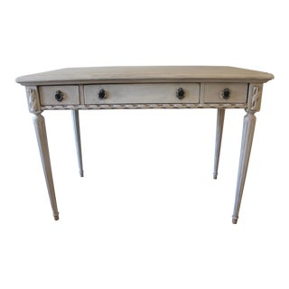 French Style Cream Painted Wooden Writing Desk