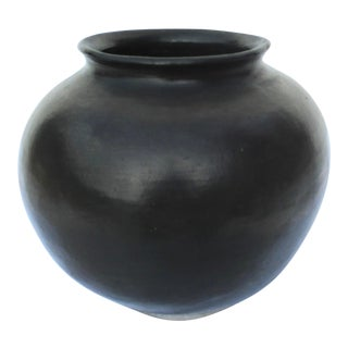 1970s Carbonized Earthen Ware Vessel For Sale
