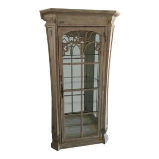 Whitewashed Curio Cabinet For Sale