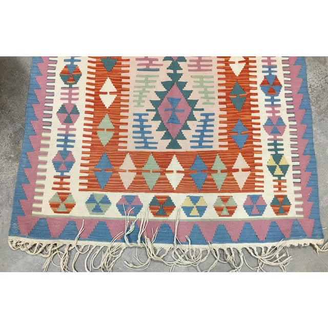 Drawing/Sketching Materials Contemporary Turkish Kilim Rug - 4′ × 6′2″ For Sale - Image 7 of 11