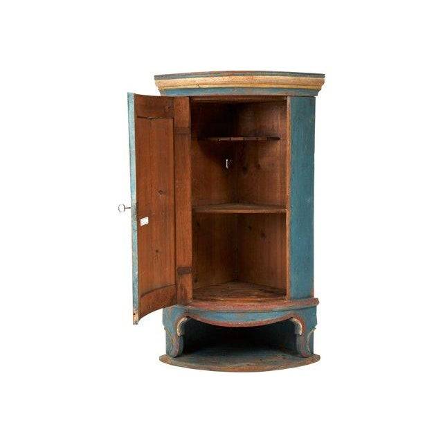 Swedish 18th C. Folk Corner Cupboard - Image 2 of 5