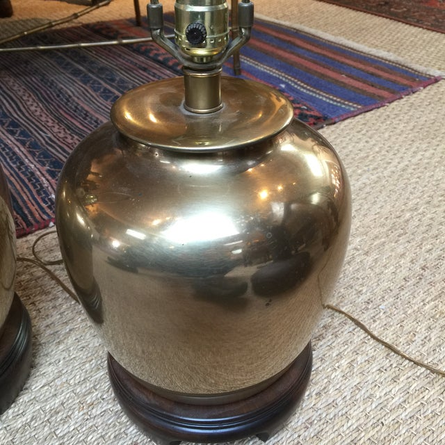 Mid-Century Modern Frederick Cooper Brass Lamps - A Pair For Sale - Image 3 of 7