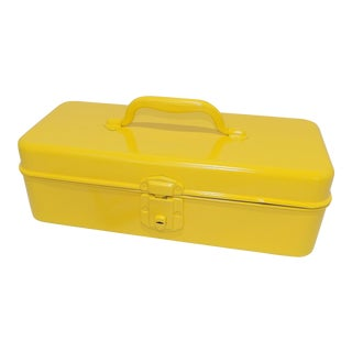 Vintage Electric Yellow Makeup Case Tackle Box