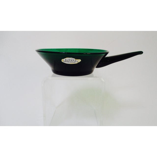 Winslow Anderson Blenko Green Art Glass Dish - Image 9 of 9