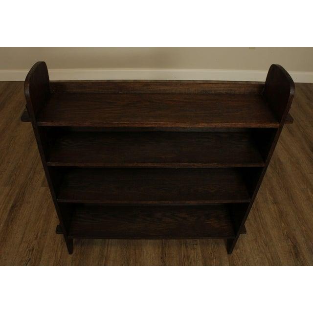 Antique Mission Arts & Crafts Oak Bookshelf For Sale - Image 12 of 13