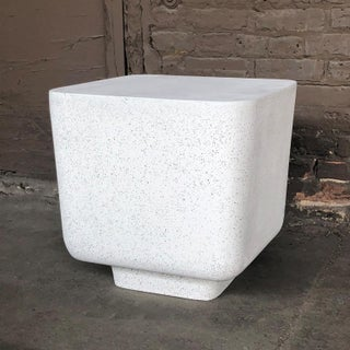 Cast Resin 'Block' Side Table, Natural Stone Finish by Zachary A. Design Preview