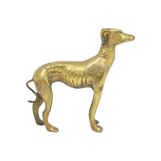 Brass Greyhound Figure