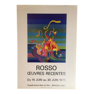 Mid-Century Art Exhibition Poster For Sale