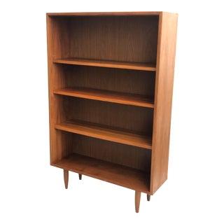 Vintage Mid Century Modern Walnut Bookshelf Case Display Cabinet For Sale
