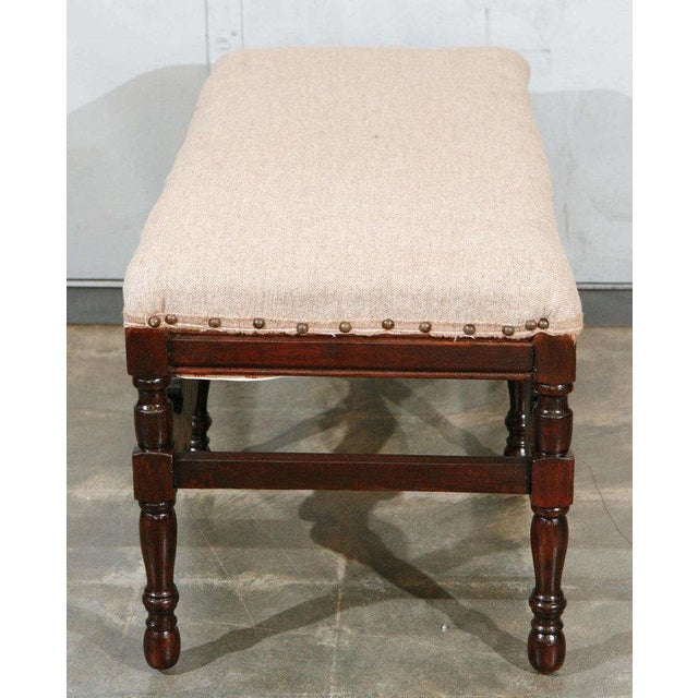 American Bench with Upholstered Seat - Image 2 of 7