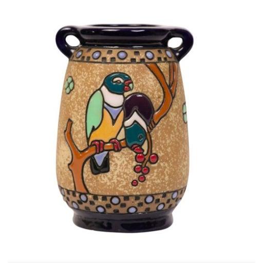 Austrian Amphora Vase W/ Parrots - Image 1 of 3
