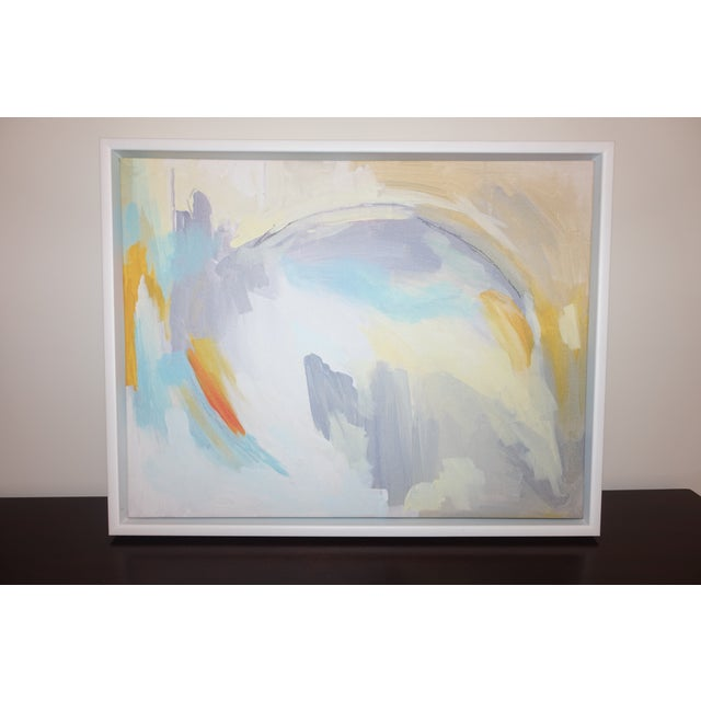 "2010s Linda Colletta ""After the Rain"" Framed Abstract Giclee Painting on Canvas For Sale - Image 5 of 5"