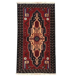 Traditional Tribal Hand Knotted Rug- 2′11″ × 5′3″ For Sale