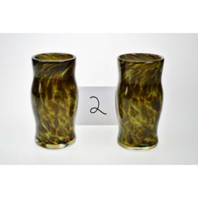 Hand-Blown Art Glass Vessels - A Pair - Image 2 of 11