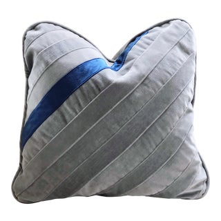 Hand Pieced Velvet and Down Throw Pillow For Sale