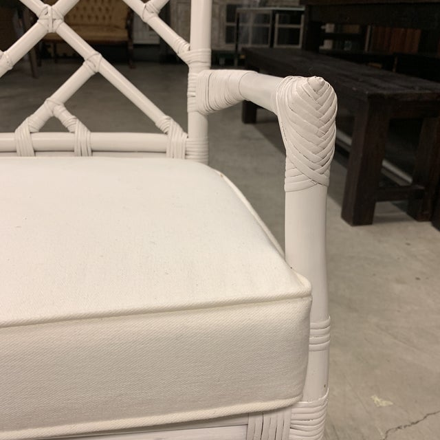 Wood New New Pacific Direct Kara Rattan White Arm Chairs For Sale - Image 7 of 12