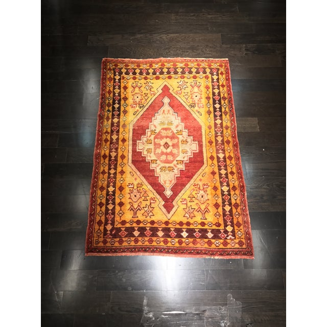 "Bellwether Rugs Vintage Turkish Oushak Area Rug - 3'8"" X 5'4"" - Image 2 of 11"