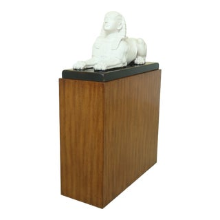 Theodore Alexander Sphinx Statue on Wood Base & Pedestal For Sale
