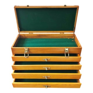 Vintage Machinists Tool Chest, Hand Crafted For Sale