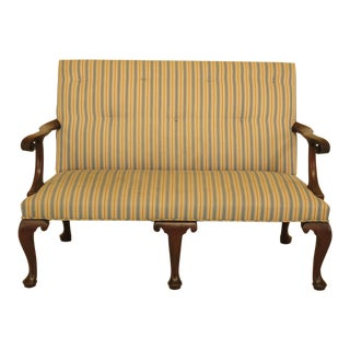 Kittinger Colonial Williamsburg Cw-154 Mahogany Settee For Sale