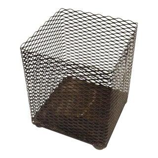 Vintage Mid-Century Waste Paper Basket For Sale