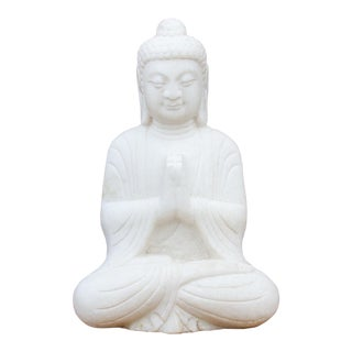 Beautifully Carved Burmese Marble Buddha For Sale