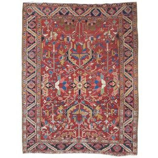 Heriz Rosette Rug - 6′5″ × 8′5″ For Sale