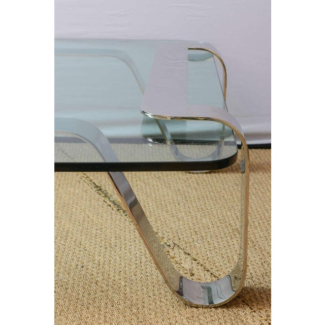 """1970s Rare and Sculptural Gary Gutterman """"Odyssey"""" Coffee Table in Polished Steel For Sale - Image 5 of 10"""