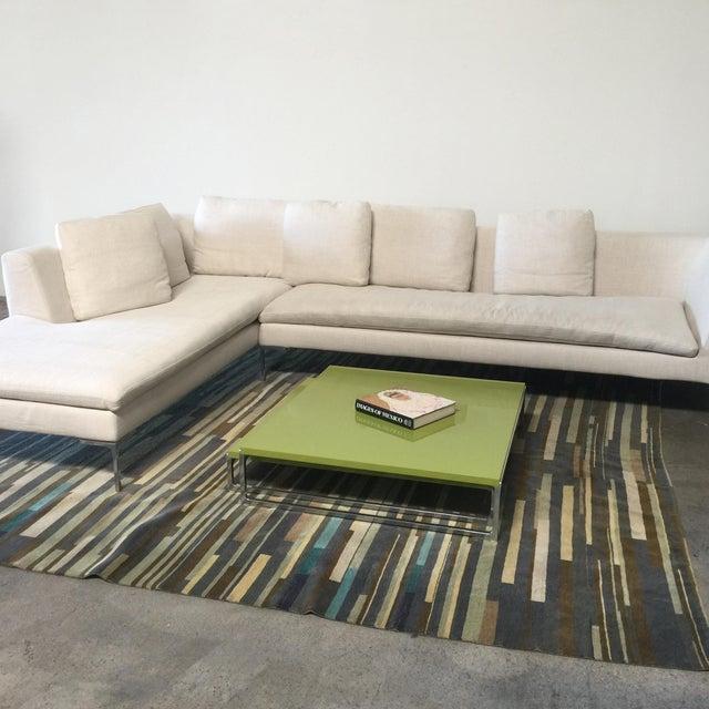 White Antonio Citterio B&B Italia 'Charles' Sofa For Sale - Image 8 of 9