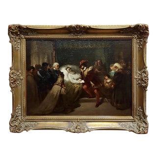 Frederik Willem Zurcher -Rembrandt on His Deathbed-Oil Painting-C1860s For Sale