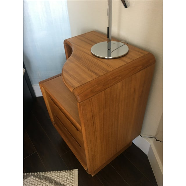 Contemporary Teak Nightstands - A Pair - Image 7 of 8