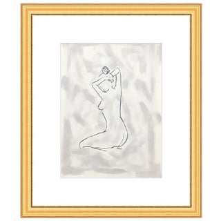 Figurative Painting from Mien + Movement Series, Stretching Female by Lindsey Weicht For Sale