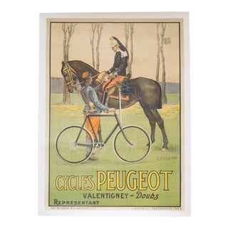 Large Turn of the Century French Army Poster C.1900 For Sale