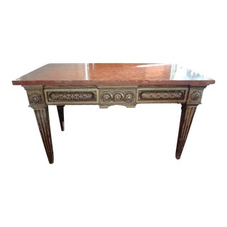 17th Century Italian Giltwood Console Table With Marble Top For Sale