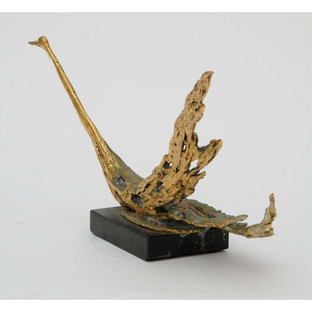 Modern Bronze Bird Sculpture by Peggy Reventlow For Sale - Image 3 of 9