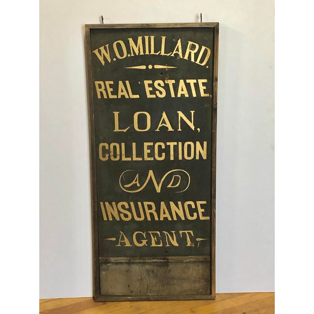 Late 19th Century 1900's Hand Painted Real Estate Sign For Sale - Image 5 of 5