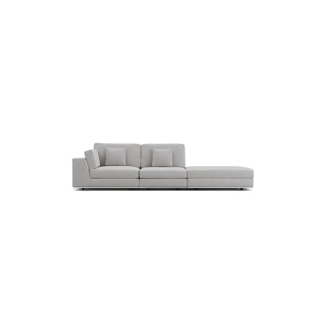 Contemporary Gray Modular Sectional Sofa and Ottoman For Sale - Image 10 of 13